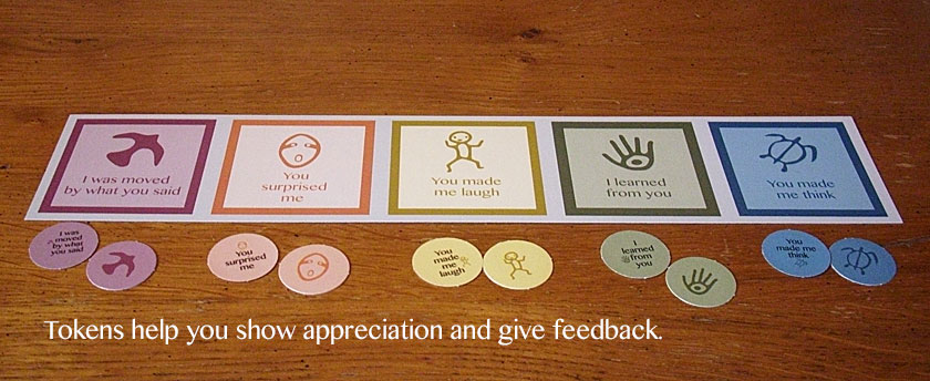 Tokens help you show appreciation and give feedback.